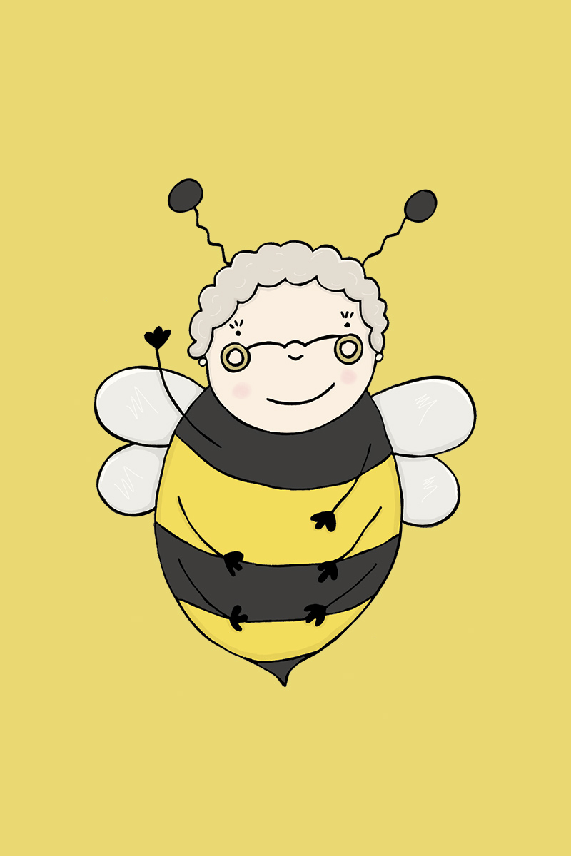 Hull Libraries illustration - Jean Bee
