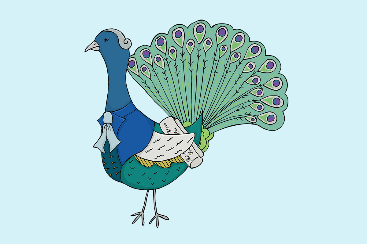 Hull Libraries illustration - Wilber Peacock