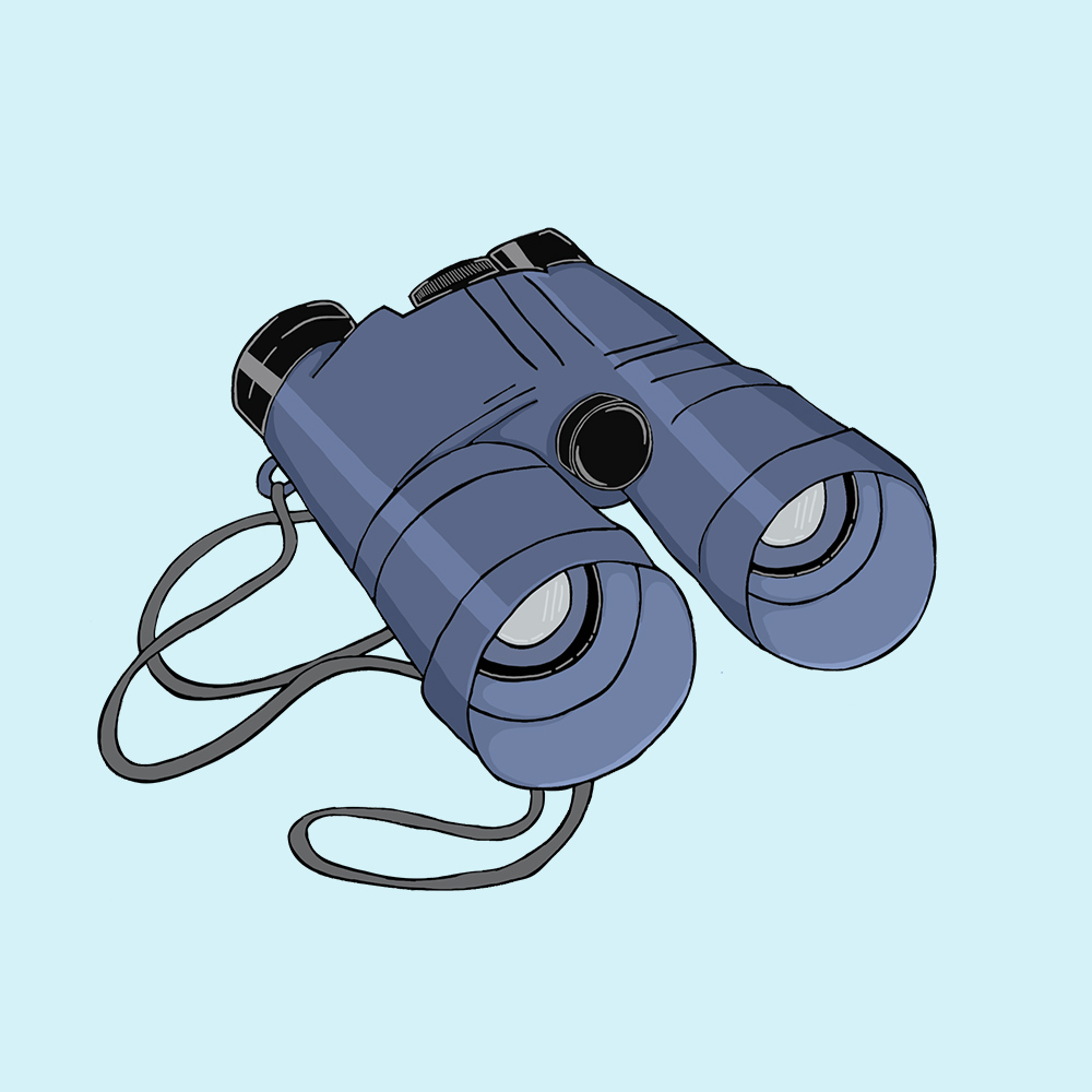 Hull Maritime Museum illustration - Binoculars