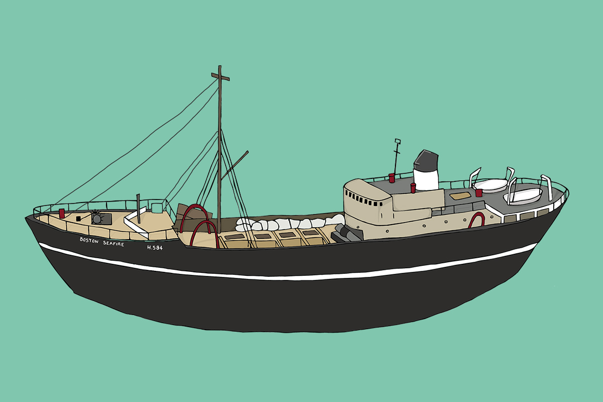 Hull Maritime Museum illustration - Trawler