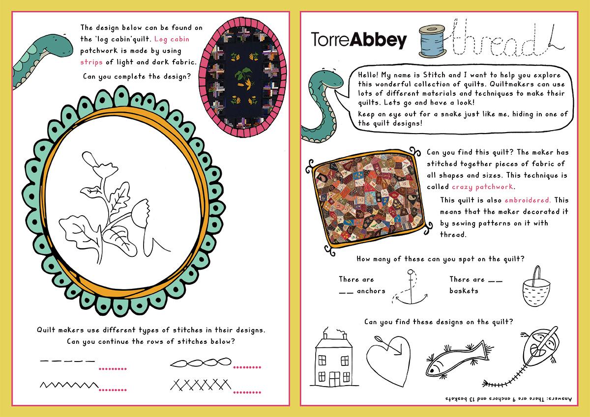 Torre Abbey illustration - Quilt Centre 2